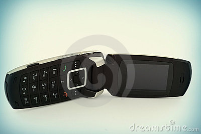Mobile phone with a flap