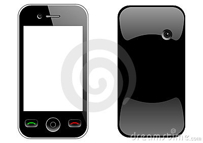 Mobile phone front and back