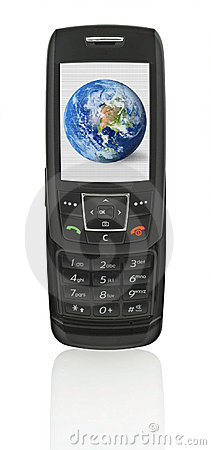 Mobile phone with globe