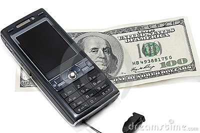 Mobile phone and hundred dollar