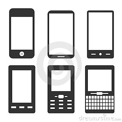 Mobile Phone Icons Stock Image - Image: 18990401