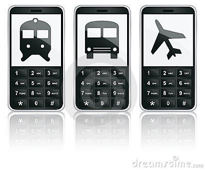 Mobile phone icons - Transport