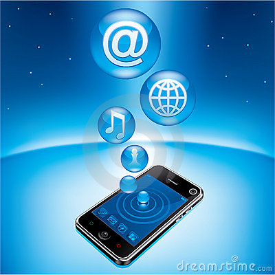 Free Mobile Phone In Universe Stock Photography - 18197972