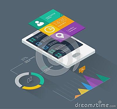 Mobile phone infographics