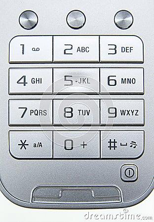 Free Mobile Phone Keyboard Royalty Free Stock Photo - 22738465