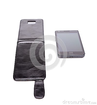 Mobile phone and leather case