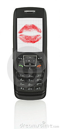 Mobile phone with love message