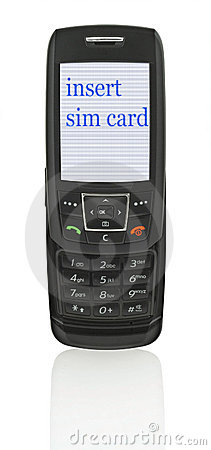 Mobile phone with message