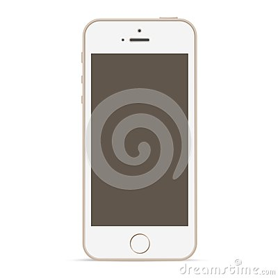 Mobile phone mockup design template.