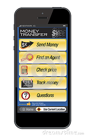 Mobile phone - money transfer