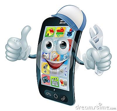Free Mobile Phone Repair Character Royalty Free Stock Image - 43962626
