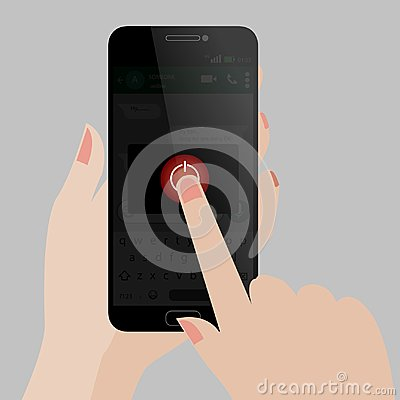 Free Mobile Phone Shutdown - Turn Off - Touch Off Stock Photos - 102206873