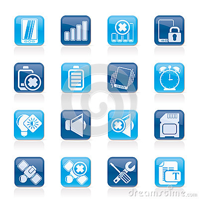 Free Mobile Phone Sign Icons Stock Images - 38728724