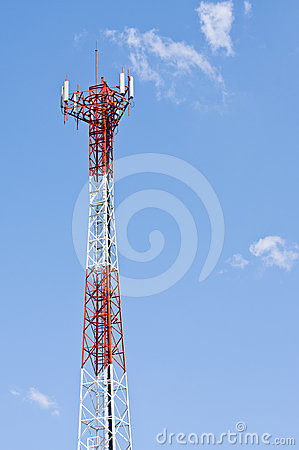 Mobile phone signal post
