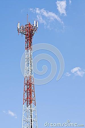 Mobile phone signal post