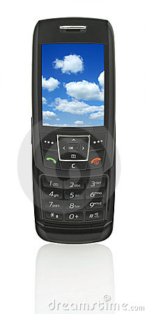 Mobile phone with sky