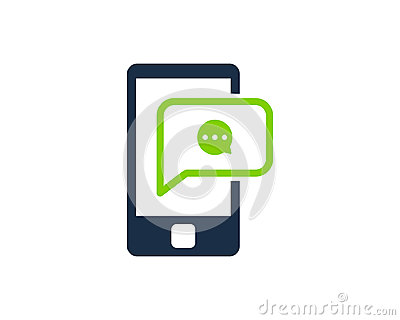 Mobile Phone Social Network Icon Logo Design Vector Illustration