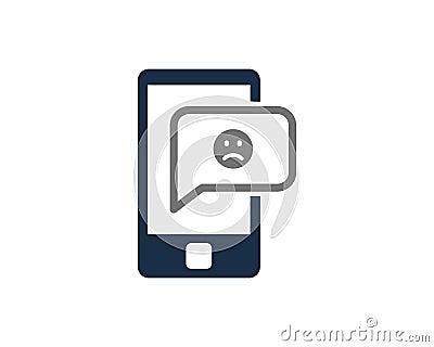 Mobile Phone Social Network Icon Logo Design Vector Illustration
