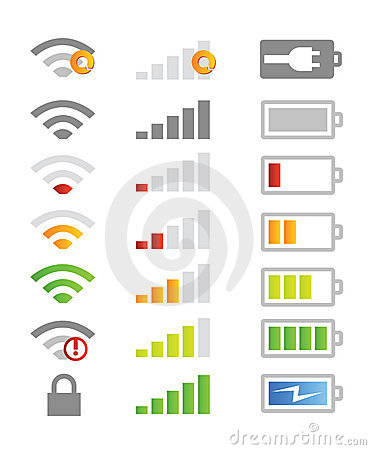 Free Mobile Phone System Icons Stock Image - 16686541