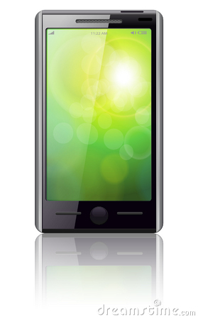 Mobile phone vector.