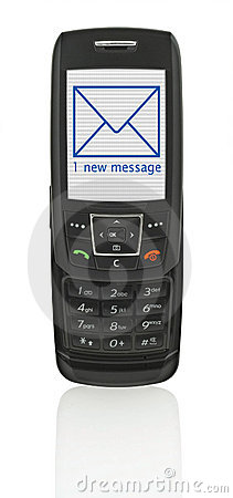 Free Mobile Phone With SMS Stock Image - 2587521