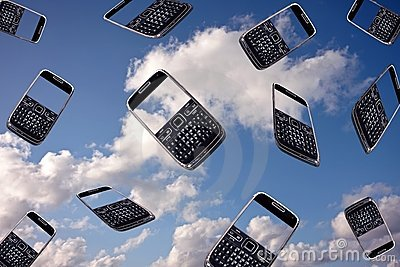 Mobile phones in the air