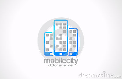 Mobile phones logo design. Mobile city business co
