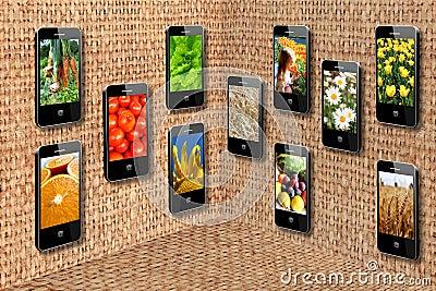Mobile phones in three-dimensional flatness