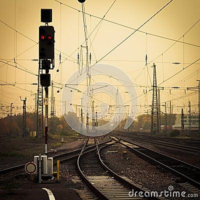 Mobile photography tone confusing rail tracks dusk