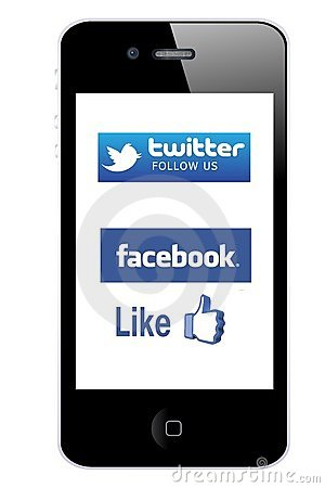 Mobile promotion Editorial Stock Photo
