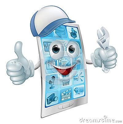 Free Mobile Repair Character Stock Images - 42208084