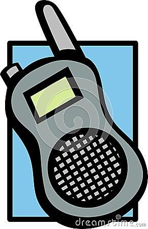 mobile shortwave radio vector illustration