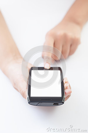 Free Mobile Smart Phone In Hand Royalty Free Stock Photos - 28465638