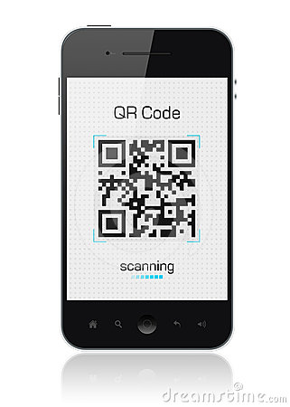 Mobile Smart Phone Showing QR Code Scanner Editorial Stock Photo