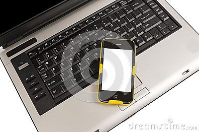 Mobile Smartphone On Computer Business Concept