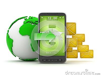 Mobile technology - concept illustration