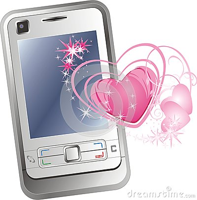 Mobile telephone and hearts