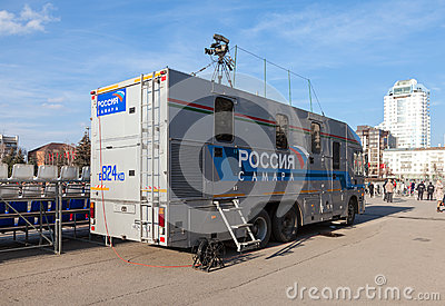 Mobile television station Editorial Image