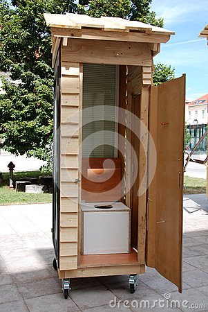 Mobile toilet Editorial Image