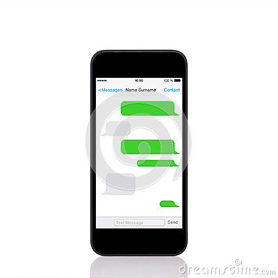 Free Mobile  Touch Phone With Sms Chat On A Screen Stock Photography - 33996412