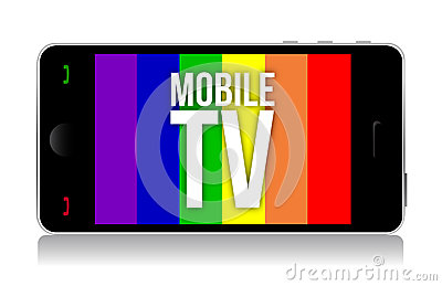 Mobile tv illustration design