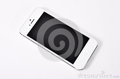 Mobile on white background.