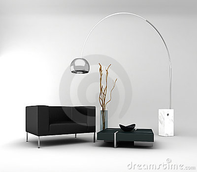 Mobília. Interior mínimo