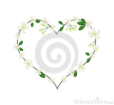 Free Mock Orange Flowers Flowers In A Heart Shape Stock Photography - 66465392