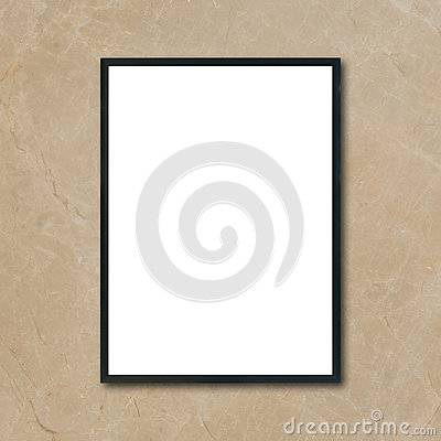 Free Mock Up Blank Poster Picture Frame Hanging On Brown Marble Wall In Room Royalty Free Stock Photography - 97747967