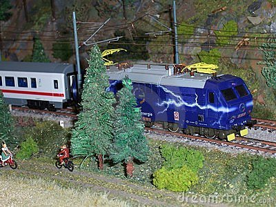 Mock-up model train
