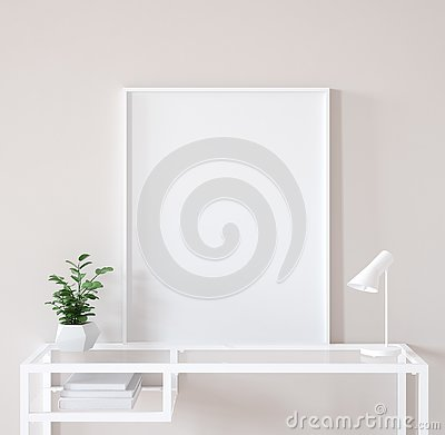 Free Mock Up Poster Frame Closeup In Interior Background, Scandinavian Style Stock Image - 139714231