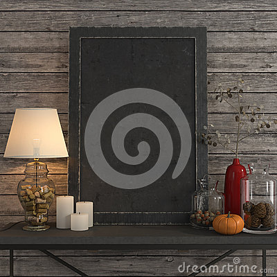 Free Mock Up Poster Frame On The Metal Table Royalty Free Stock Photos - 61369068