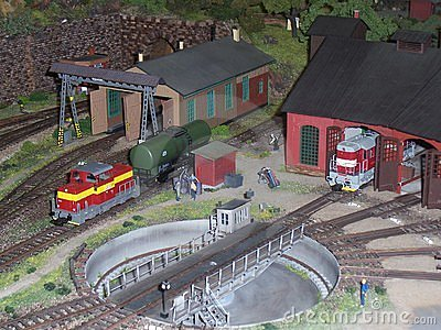 Mock-up train depot