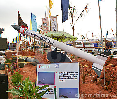 Mock up of Trishul, Indian Surface to Air missile Editorial Image